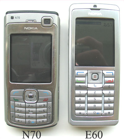 Nokia E60 business phone vs N70 smartphone